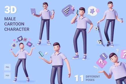 juego de caracteres masculinos 3D