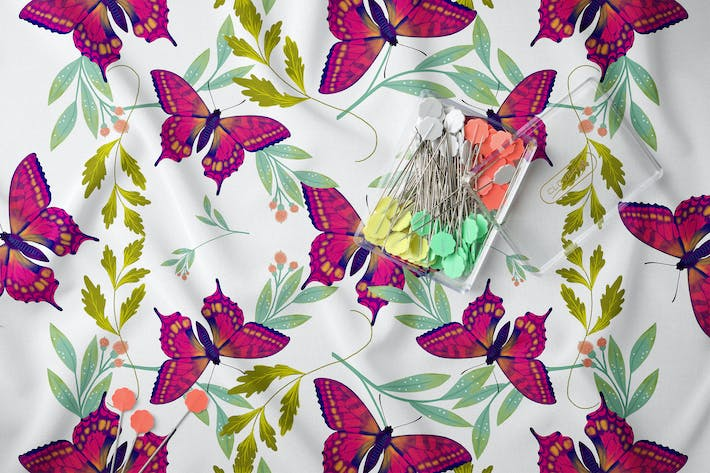 Thumbnail for Butterfly & Leafs Pattern II