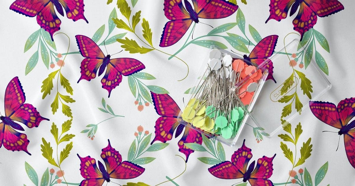 Download Butterfly & Leafs Pattern II by Squirrel92