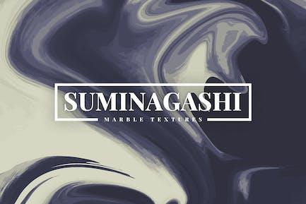 Suminagashi Marmortexturen