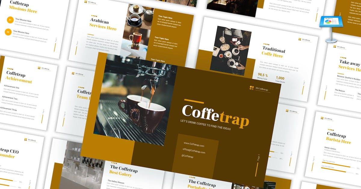Download Coffetrap - Café Resto Keynote Template by CocoTemplates