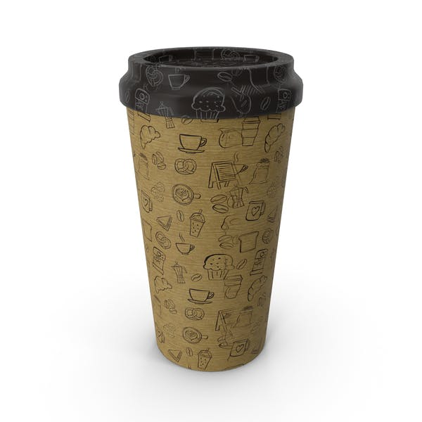 Paper Cup Patterned