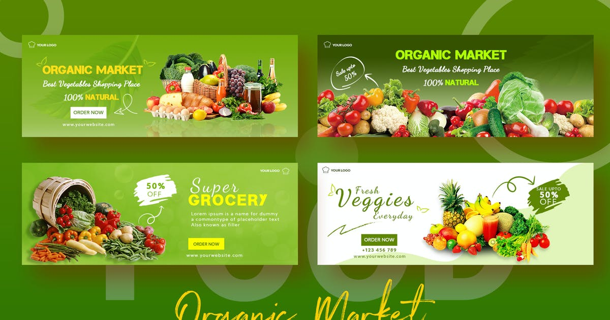 Download Organic Market Sale Banner Facebook Timeline Cover by nmc2010