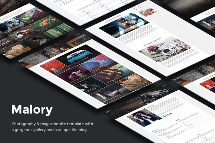 Thumbnail for Malory – Photography & Magazine Site Template