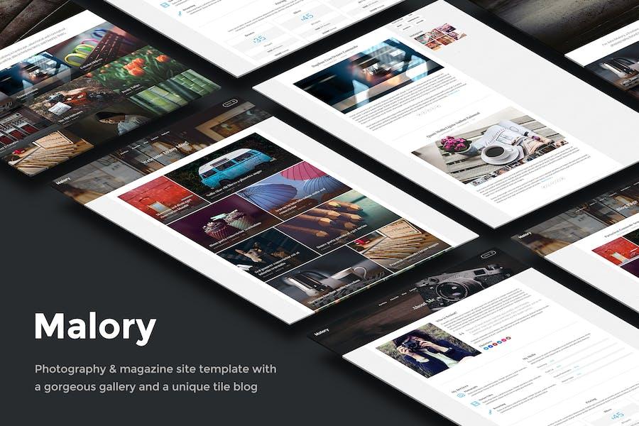 Malory – Photography & Magazine Site Template