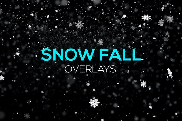 Snow Fall Overlays