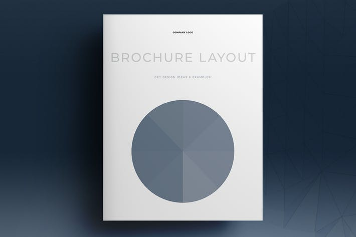 Thumbnail for Blue Brochure Layout