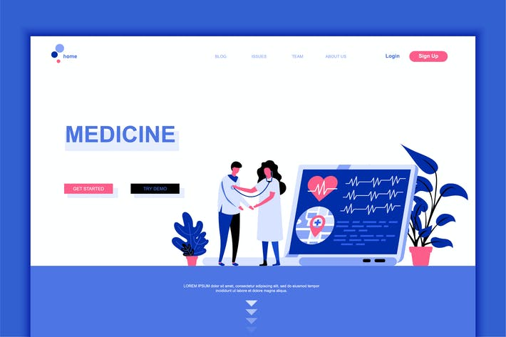 Thumbnail for Medicine Flat Landing Page Template