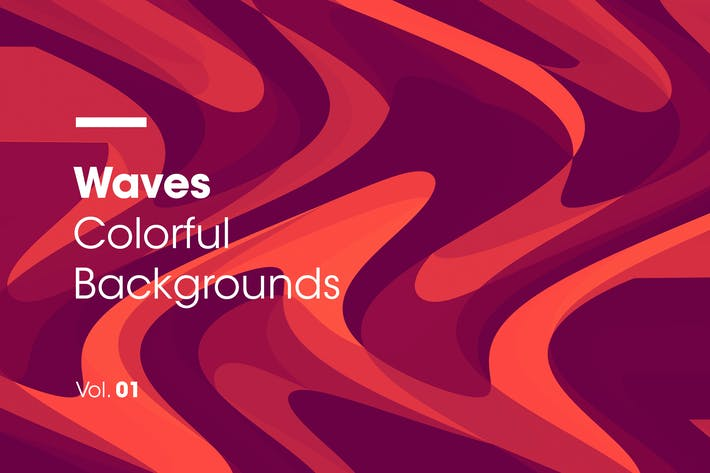 Thumbnail for Waves | Colorful Backgrounds | Vol. 01