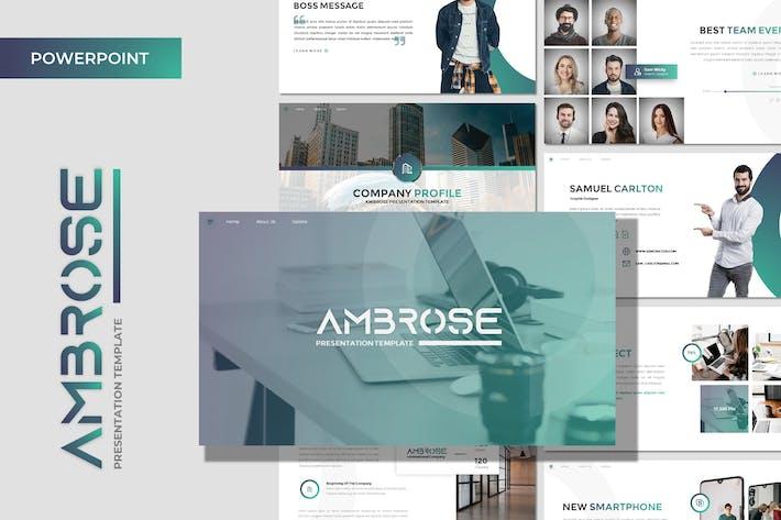 Ambrose - шаблон Powerpoint для бизнеса