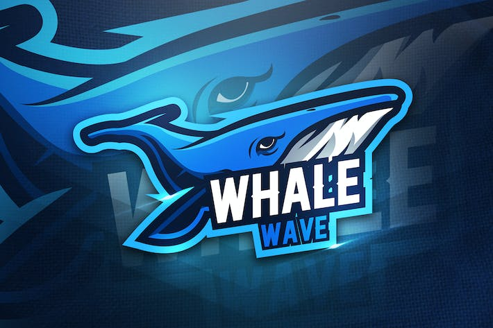 Thumbnail for Whale Wave - Mascot & Esport Logo