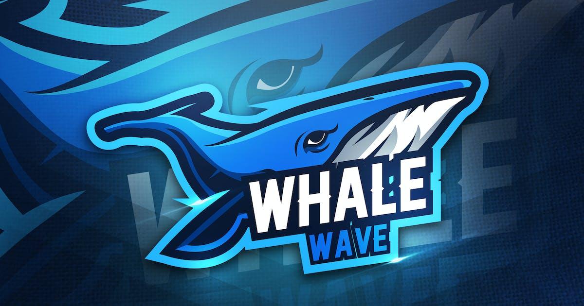 Whale Wave - Mascot & Esport Logo by aqrstudio