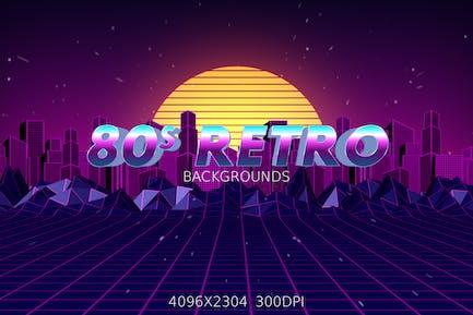 80er Jahre Retro Hintergründe