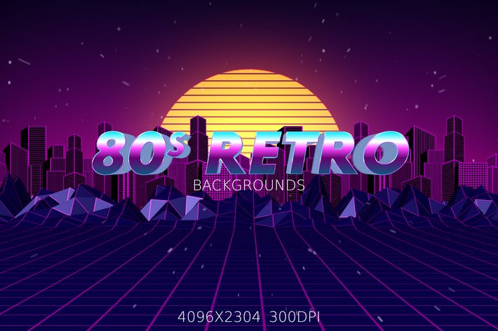 Thumbnail for 80s Retro Backgrounds