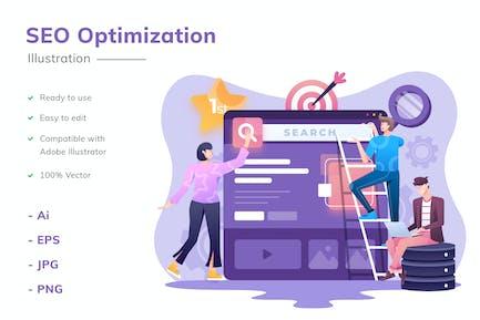 Ilustración de optimización SEO