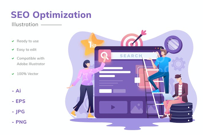 Thumbnail for SEO Optimierung Illustration