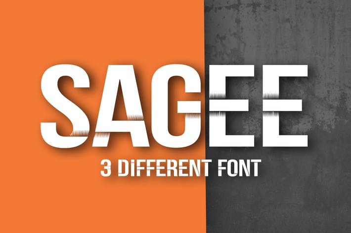 Thumbnail for Sagee 3 Font