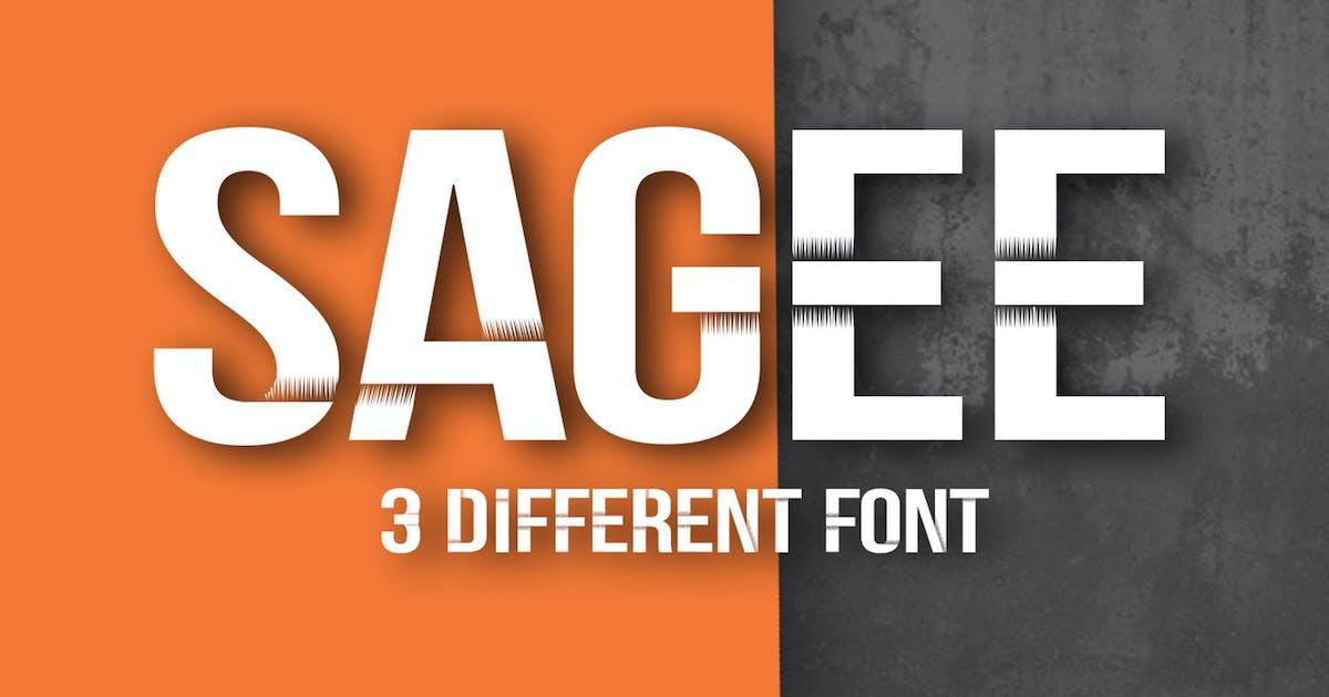 Sagee 3 Font by khurasan