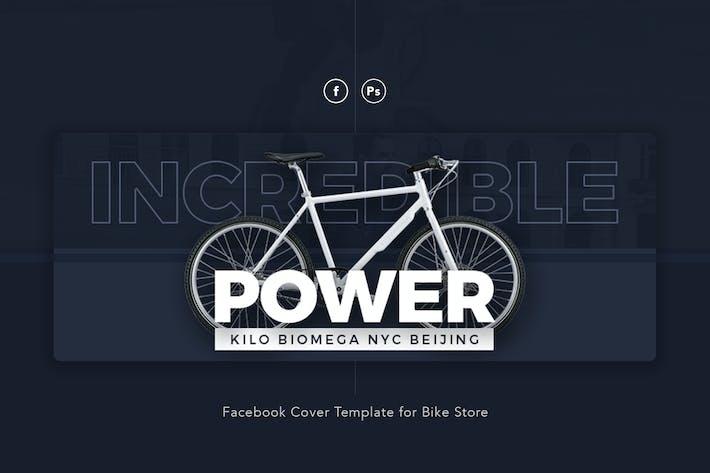 Power - Bike Store Facebook Cover PSD Template
