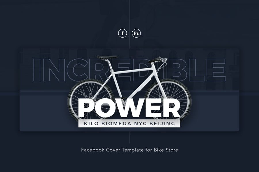Power Bike Store Facebook Cover Psd Template Design