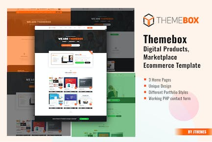 Themebox - Digital Products HTML Template