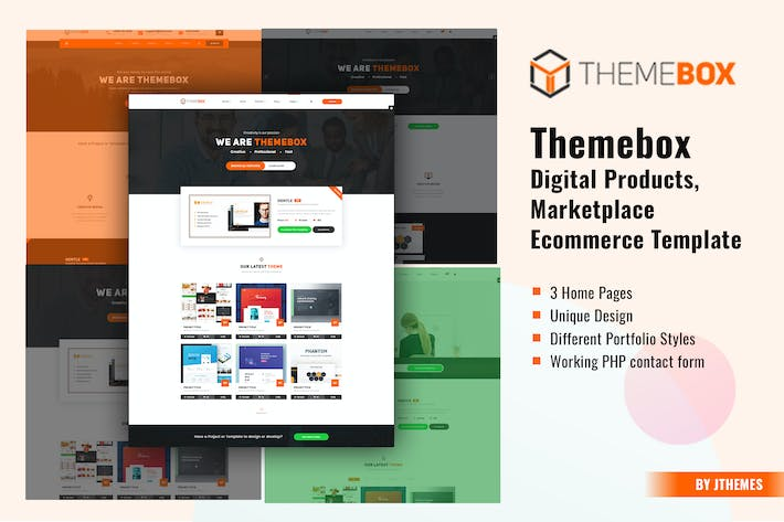 Thumbnail for Themebox - Digital Products HTML Template