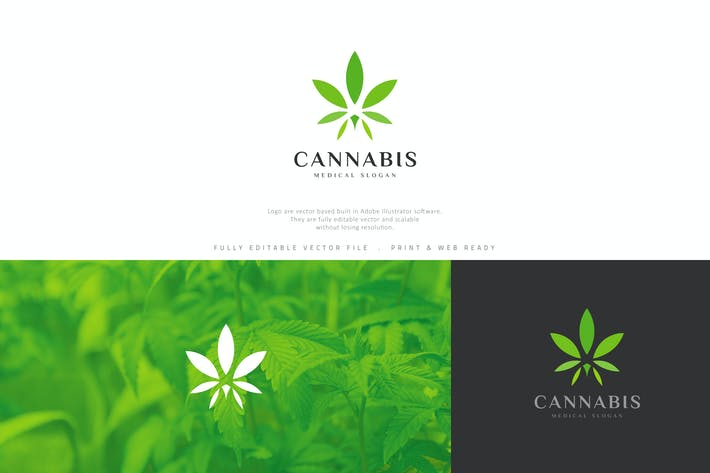 Thumbnail for Cannabis Marijuana Leaf Logo