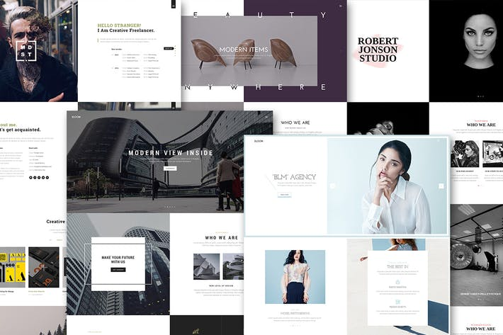 Cover Image For Bloom - One & Multi Page Portfolio HTML Template