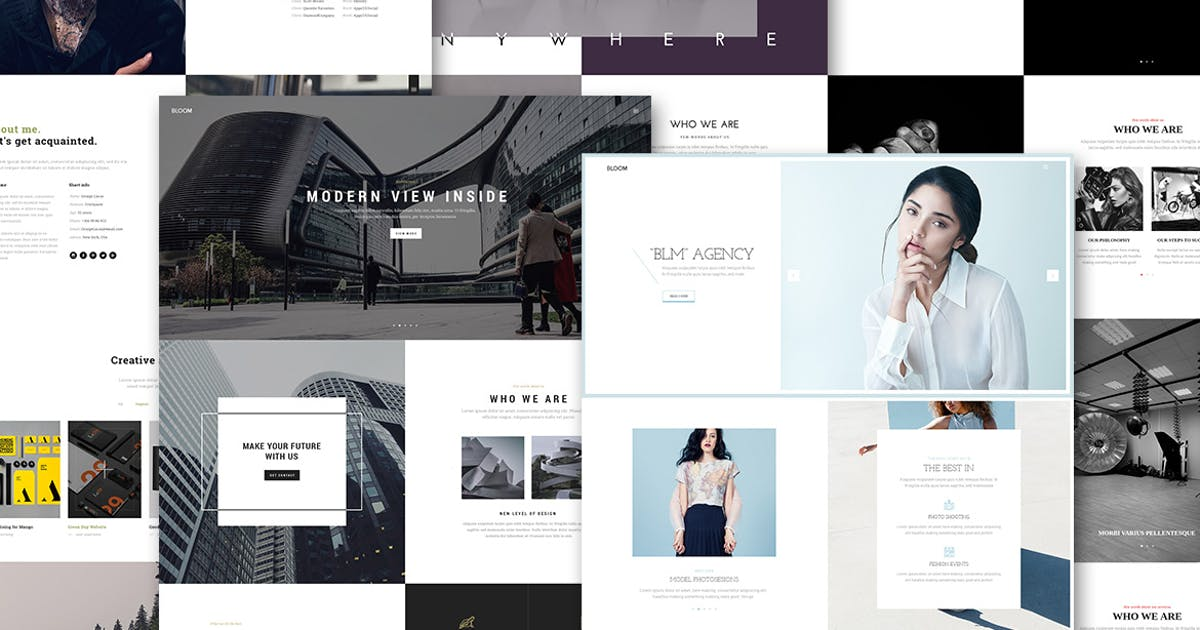 Download Bloom - One & Multi Page Portfolio HTML Template by UnionAgency