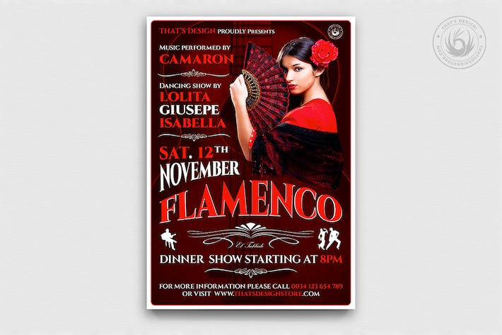 Thumbnail for Flamenco Flyer Template V2
