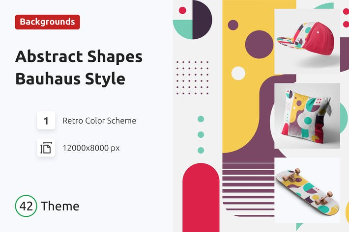 Thumbnail for Abstract Shapes  Background Bauhaus Style