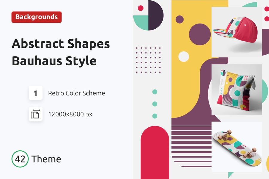 Abstract Shapes  Background Bauhaus Style