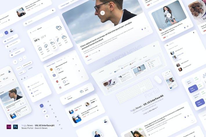 Negu News - News Portal & UX, UI Interface Kit