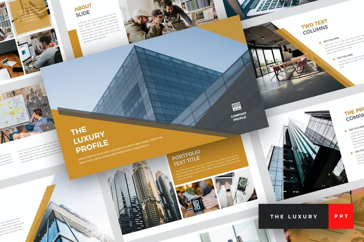 Thumbnail for The Luxury - Pitch Deck PowerPoint Template