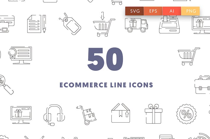 Thumbnail for Icons für E-Commerce-Linien