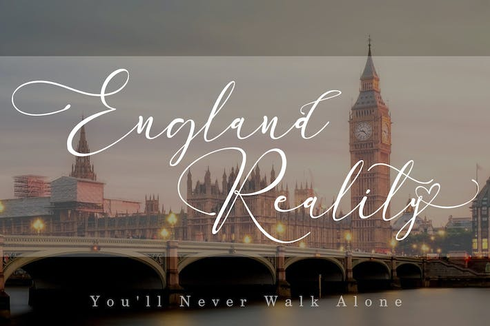 Thumbnail for England Reality // Luxury Script Font