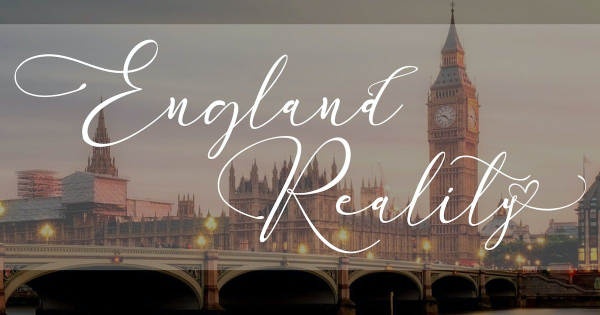 Download England Reality // Luxury Script Font by aldedesign