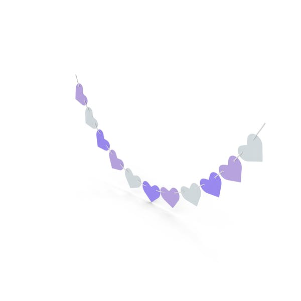 Thumbnail for Heart Shaped Garland Purple and White