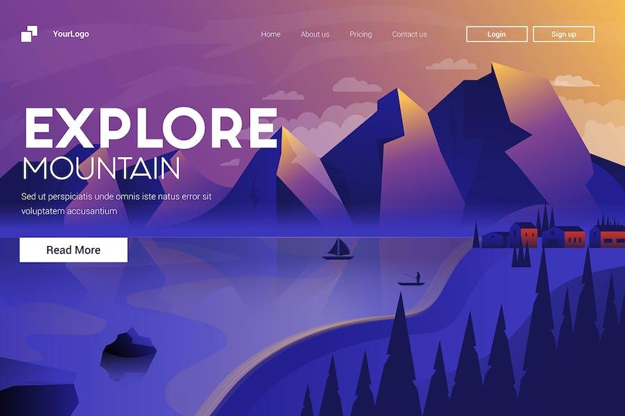 Illustration of Explore Mountain