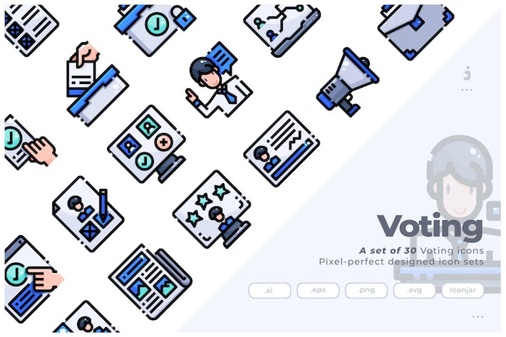 Thumbnail for 30 Voting Icons