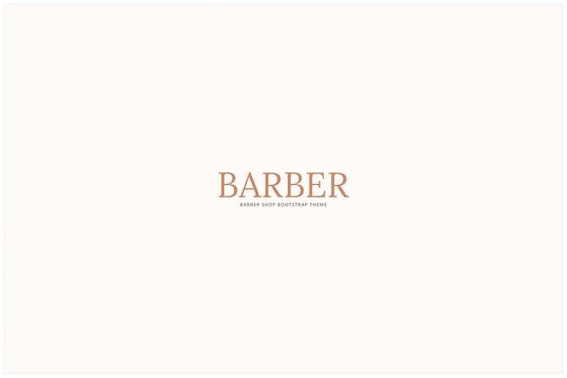 Barber - Hair Salon . Barber Shop Template