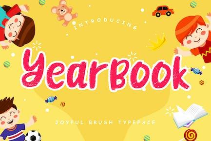 Yearbook Joyful Brush Typeface