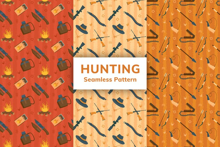 Hunting Seamless Pattern