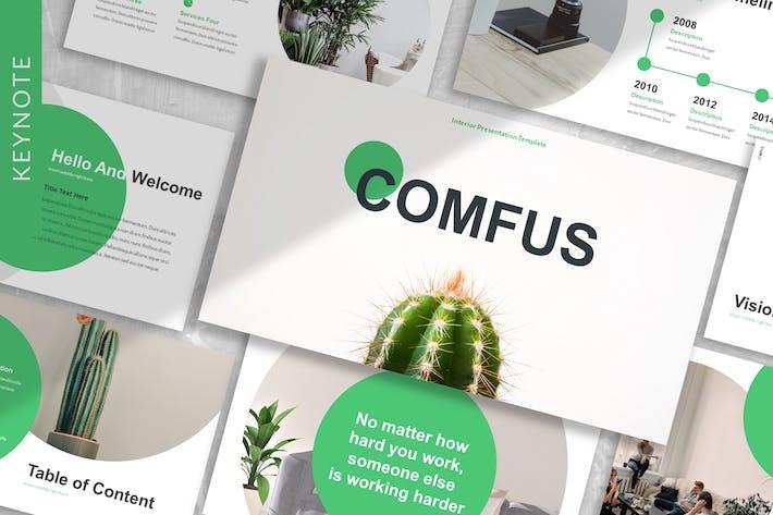 Thumbnail for Comfus - Plants Keynote шаблон
