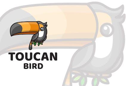 Toucan Bird Cute Logo Template