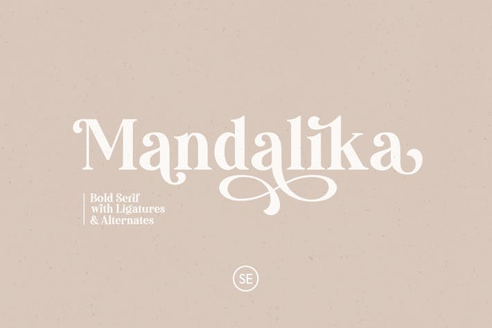Thumbnail for Mandalika - Modern Bold Serif