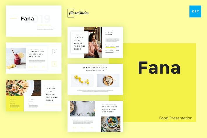 Thumbnail for Fana - Food Keynote Template