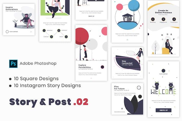 Thumbnail for Story & Post - No. 2 | Social Media Kit