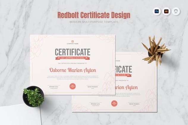 Redbolt Certificate