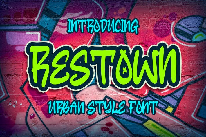 Thumbnail for Restown - Urban Style Font